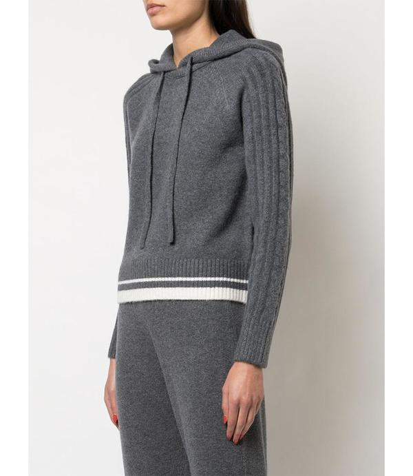 Duffy Hoodie with Cable - Grey