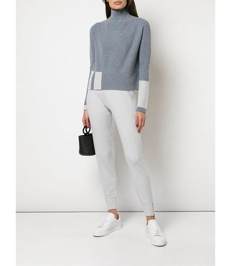 Duffy Ribbed Funnel Neck Sweater - Grey