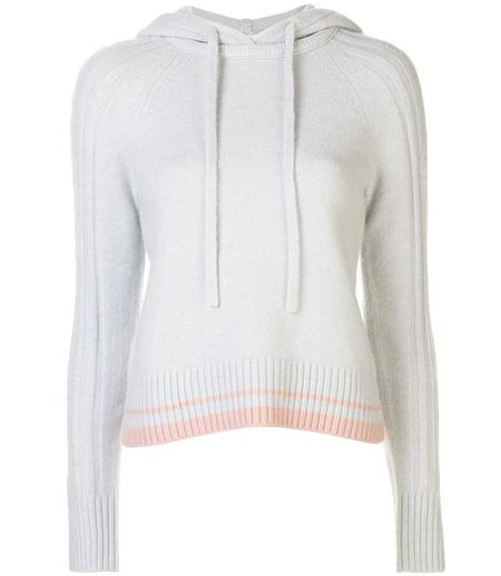 Duffy Hoodie with Cable - Mist/Pink