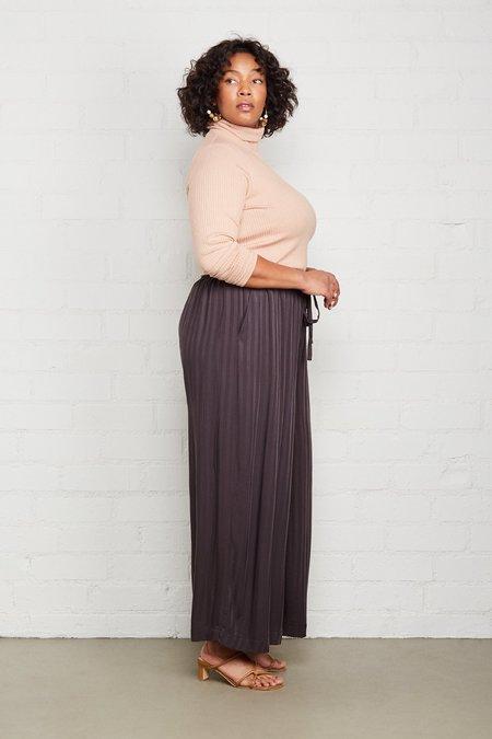 Rachel Pally Plus Size Shadow Stripe Lyric Pant - Faded Black