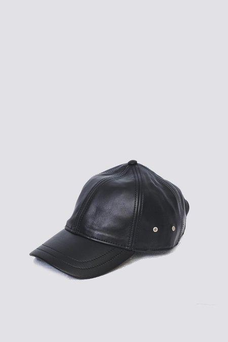 Assembly Leather Baseball Cap - Black