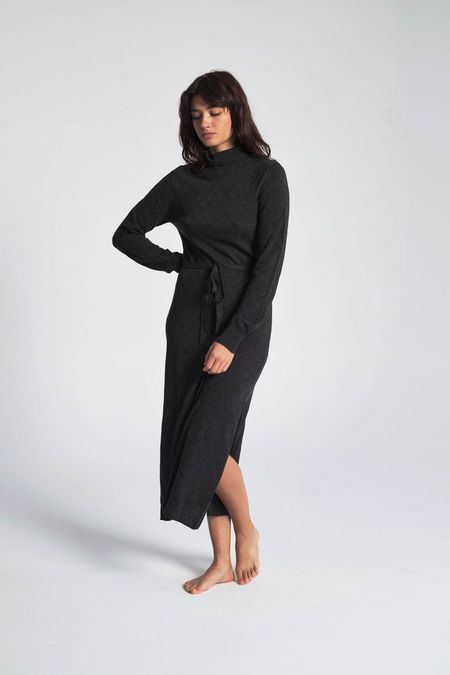 Le Mont St. Michel Diamond Knit Dress - Grey