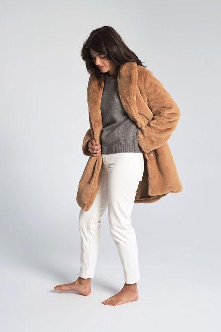 Suzanne Rae Faux Fur Coat - Caramel