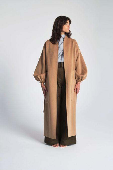 Shaina Mote Monk Coat - Camel