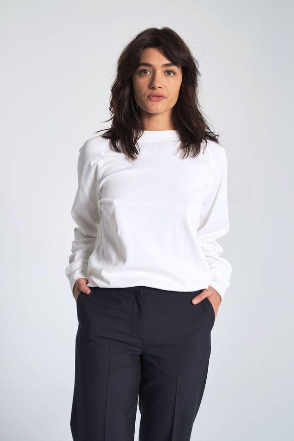 Suzanne Rae Organic Interlock Cotton Sweatshirt