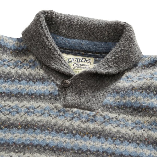 Grayers Fairisle Shawl Pullover - Multi