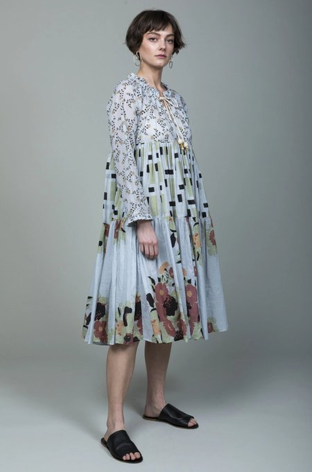 Yvonne S Short to Knee Dress - Viola Repeat Oat