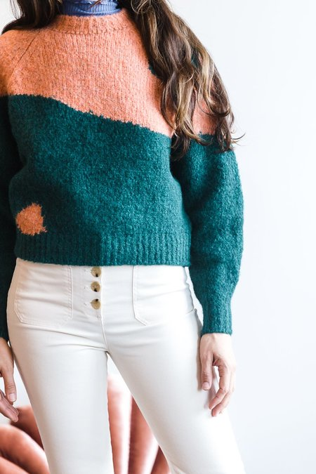 Paloma Wool Yin Yang Sweater - Grapefruit/Forrest Green