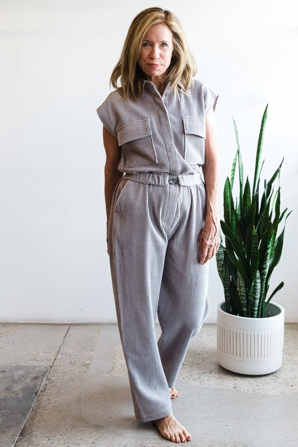 Year One Cord Jumpsuit - Cloud