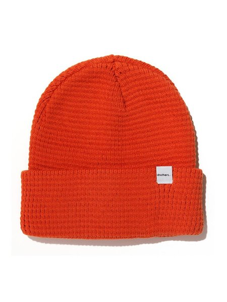 Druthers Organic Cotton Waffle Knit Beanie - Red