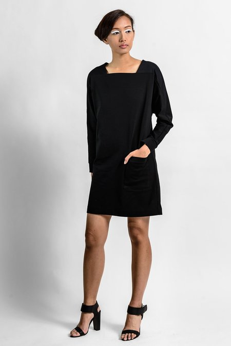 A.Oei Studio Square Neck Sweater Dress - Black
