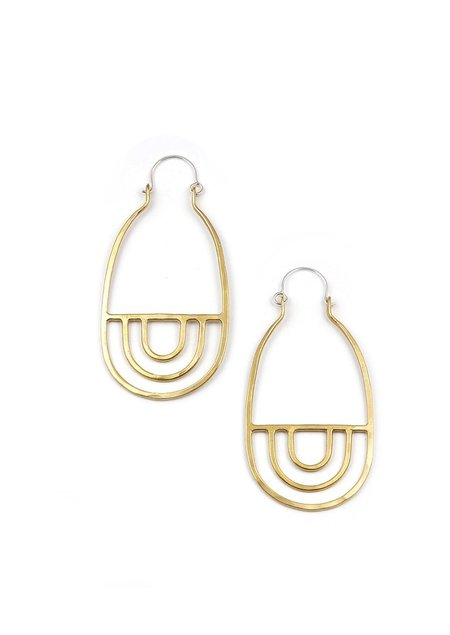 Tiro Tiro Arcos Earrings - Brass