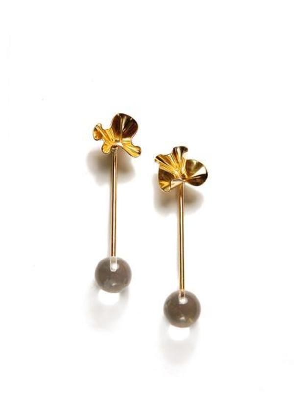 Tiro Tiro Cuarzo Earrings - brass
