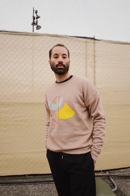 unisex SELVA / NEGRA  somos humanos sweatshirt - taupe