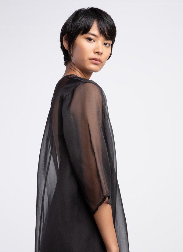 KAAREM Grain Organza Silk Dress - Black