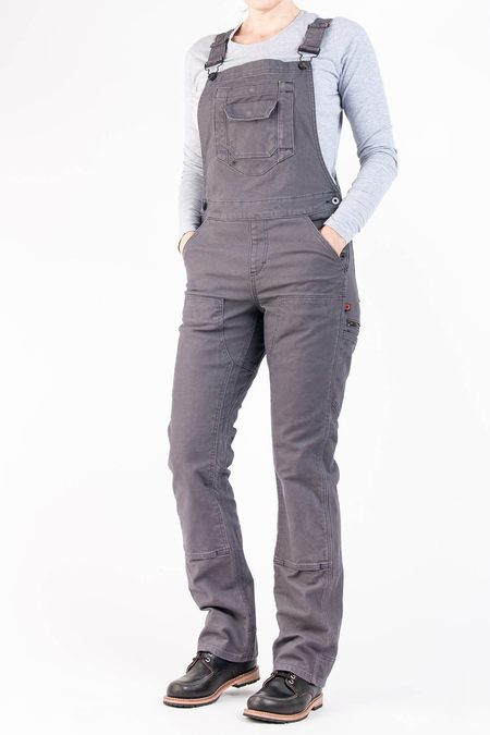Dovetail Freshly Overall - Grey Stretch Canvas