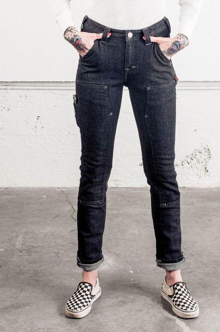 Dovetail Maven Slim Work Pant - Black Stretch Denim