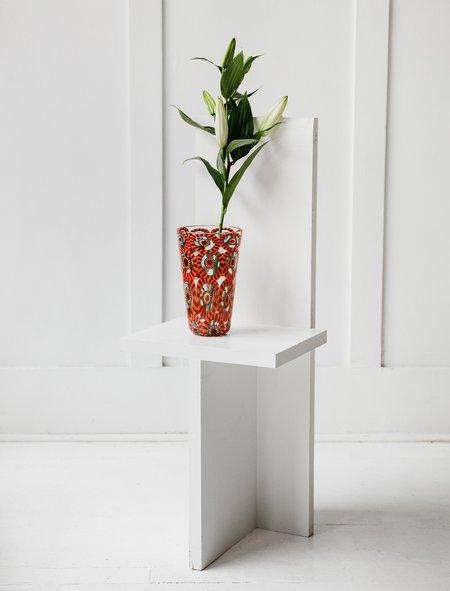 Found by Neighbour Murrine Eye Tall Vase - Orange