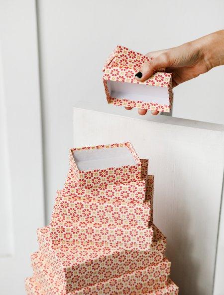 Carta Pura Set of Boxes Carta Varese - Pink Flowers
