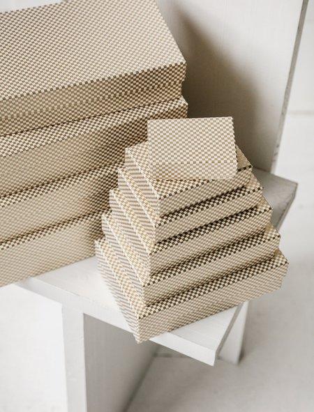 Carta Pura Set of Boxes Chiyogami - Gold Check