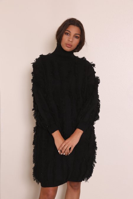 """INTENTIONALLY __________."" KLEX Knit Dress - Black"