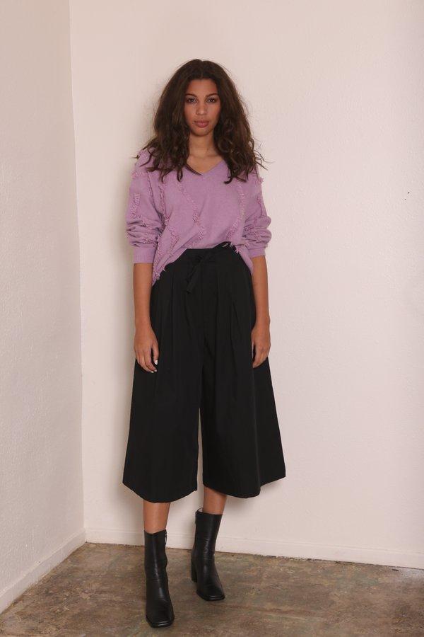 """""""INTENTIONALLY __________."""" SHAKE Fringe Sweater - Lilac"""