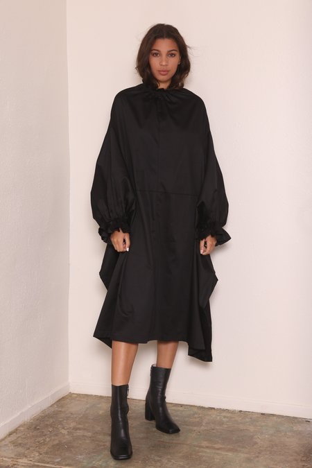 """INTENTIONALLY __________."" VIC Dress - Black"
