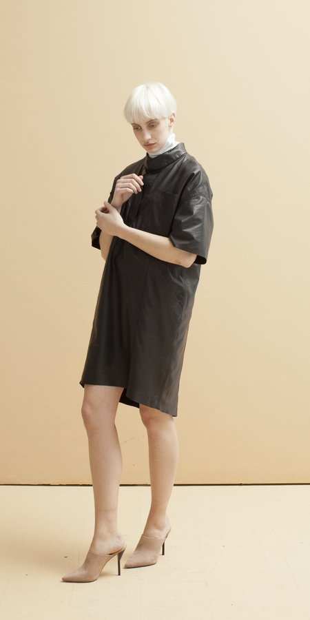 SCHAI Odyssey Tailored Leather Dress