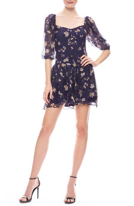 CAROLINE CONSTAS Quinn Dress - Navy Floral
