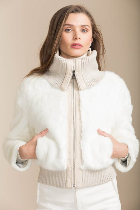 Bubish Faux Fur Monaco Jacket - White