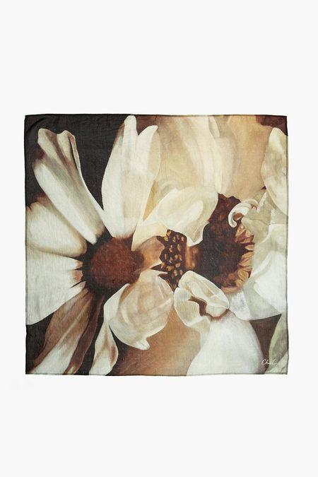 Chan Luu Sunflowers Silk Scarf