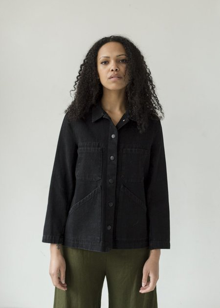 Carleen Triangle Pocket Jacket - Washed Black