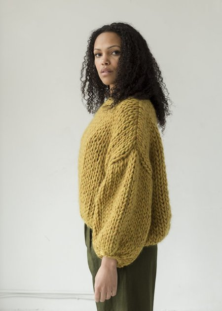 Hendrik.Lou Wool Cropped Sweater - Mustard