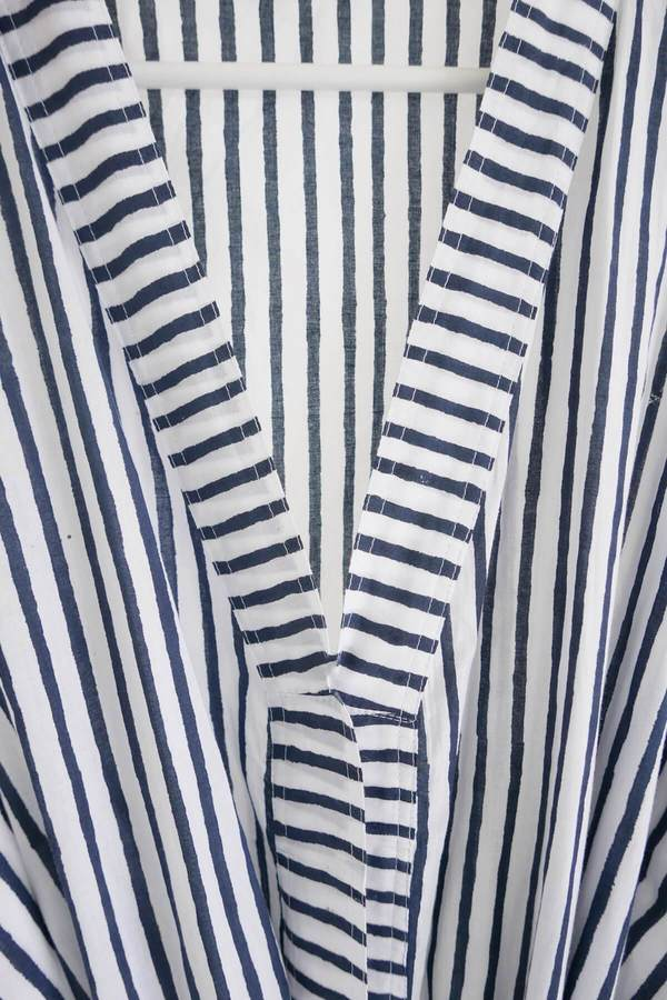 Karu Midnight Striped Quilt & Robe Gift Set