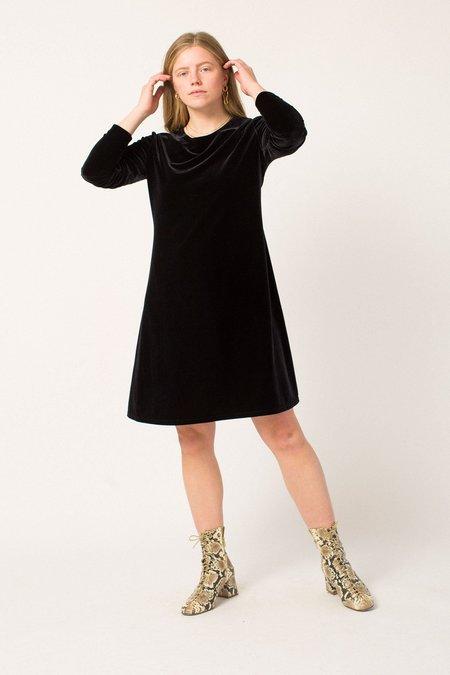 Vintage Velvet Dress - Black