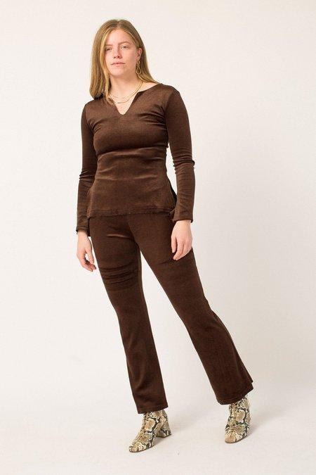 Vintage Velvet Set - Brown