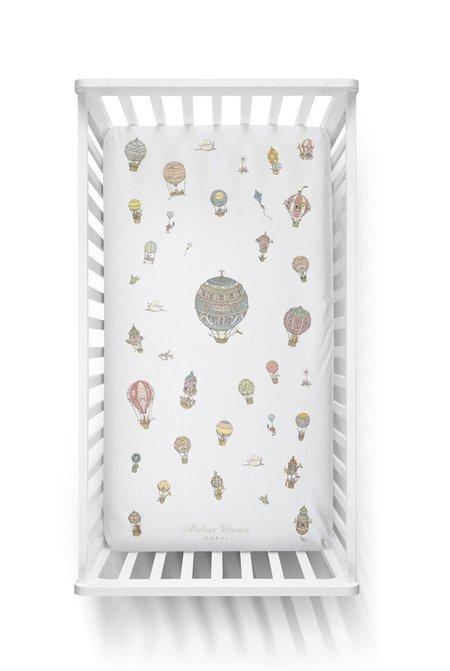 Kids Atelier Choux Fitted Sheet - Hot Air Balloons