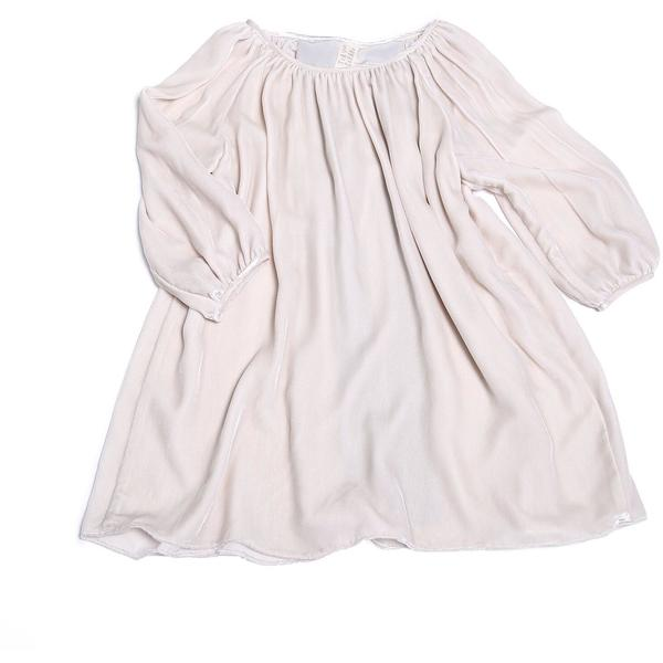 KIDS tia cibani farmhouse smock dress - buttermilk