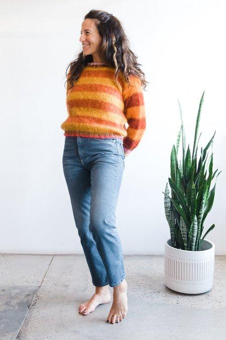 Rose Carmine Sweater O - Stripes