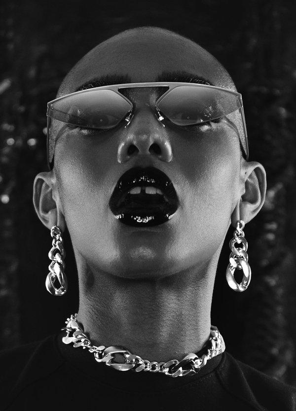 CHRISHABANA The Blade Sunglasses - Silver/Mirror Lavender