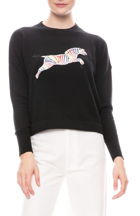 27 Miles Zebra Sweater - black