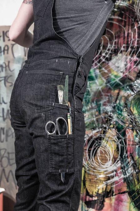Dovetail Freshley Overall - Black Stretch Denim
