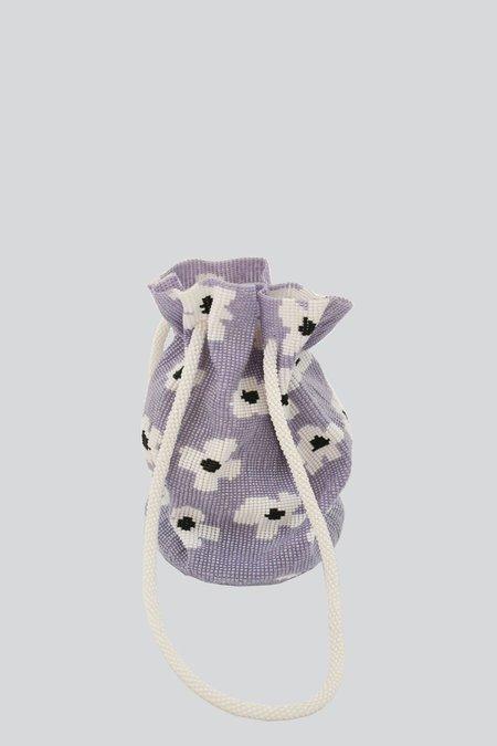 Pura Utz Beaded Flower Dream Pouch - Lavender