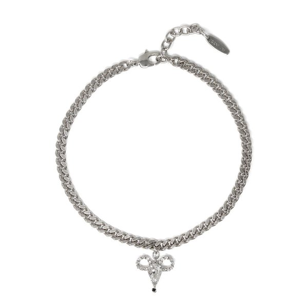 Joomi Lim Chain Choker W/ Large Crystal Mouse