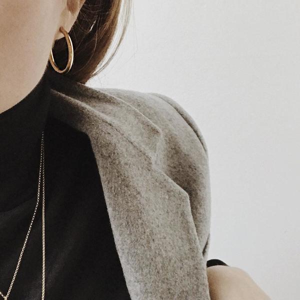 APSE ADORN Ange Hoop Earrings - Silver