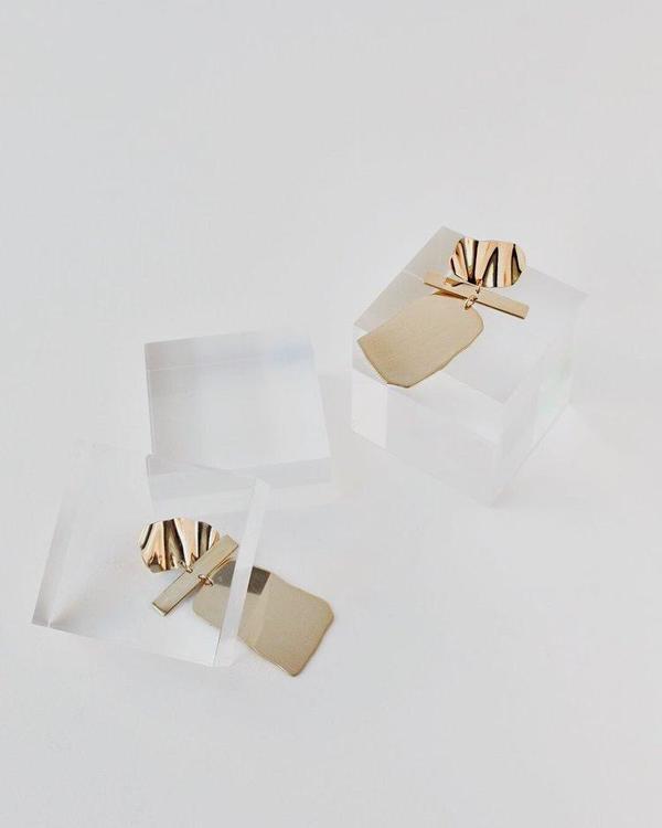APSE ADORN Poppy Earring - Brass