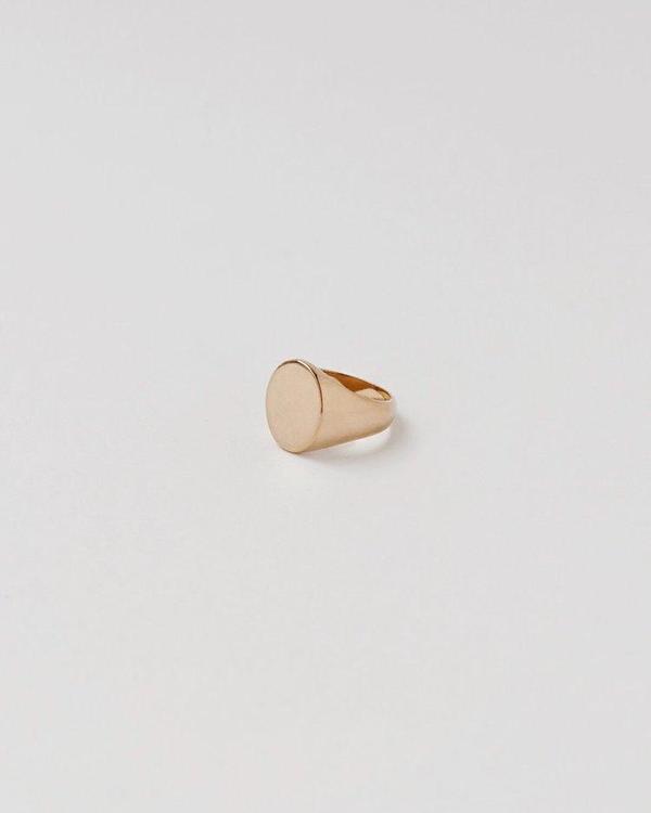 APSE ADORN Blank Signet Ring - Gold