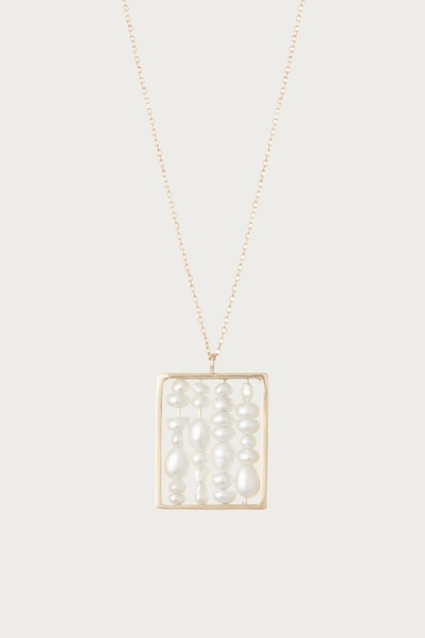 WWAKE Pearl Small Weaving Necklace