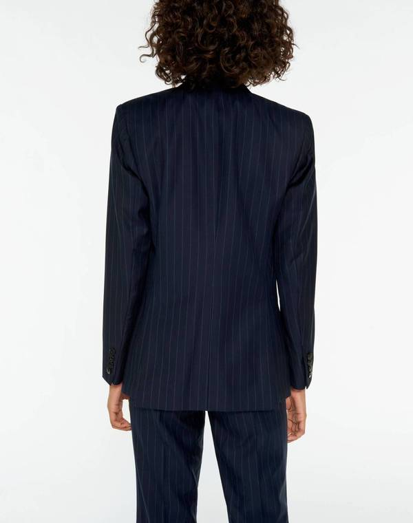 RE/DONE 70s Double Breasted Blazer - Navy Stripe