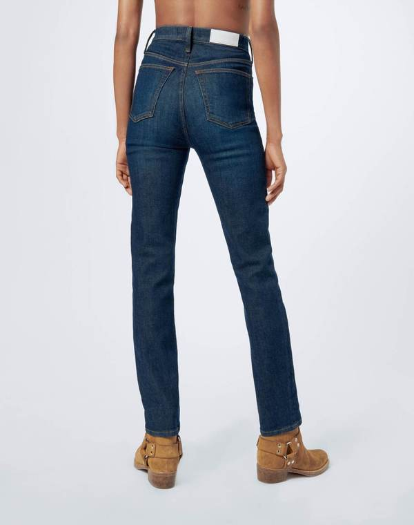 RE/DONE Ultra High Rise Ankle Crop - Worn Heritage